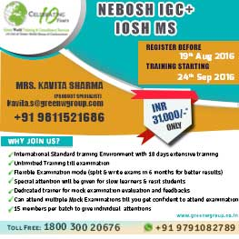 Nebosh IGC in New Delhi
