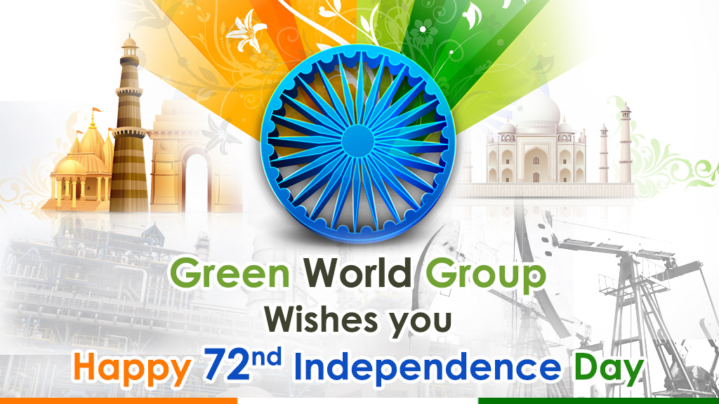 """72nd INDEPENDENCE DAY CELEBRATION AT """"GREEN WORLD GROUP"""""""