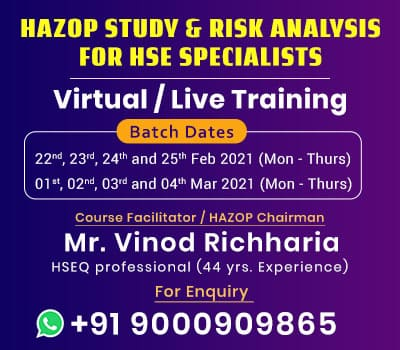Hazop Risk Analysis Training Jan 2021 widget 400 350 1