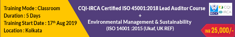 ISO 45001- 2018 Kolkata Aug