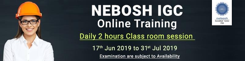 Nebosh Igc Exam Dates In India Course Calendar Safety Training
