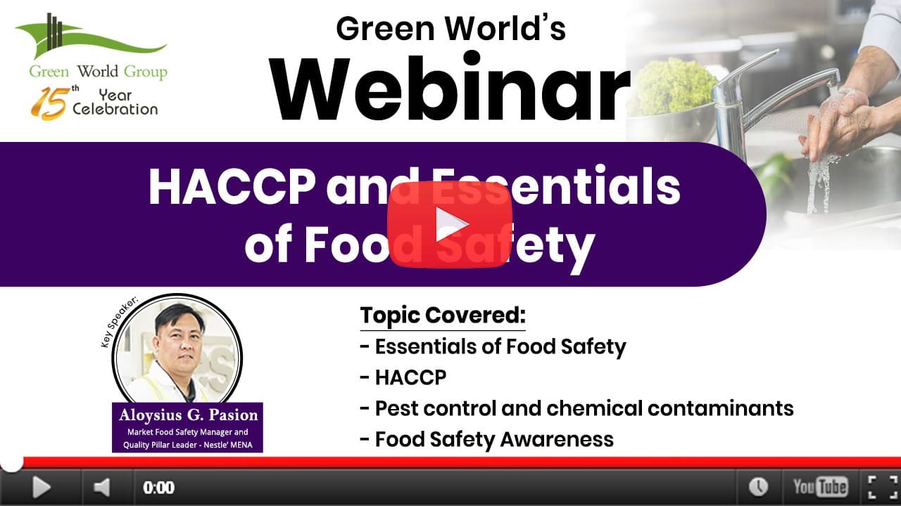 HACCP & Essentials of Food Safety – Introduction