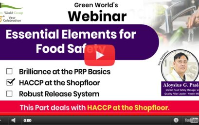 HACCP & Essentials of Food Safety – HACCP at Shop Floor (Part – 2)