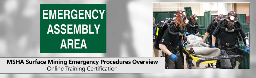 MSHA Surface Mining Emergency Certification Training